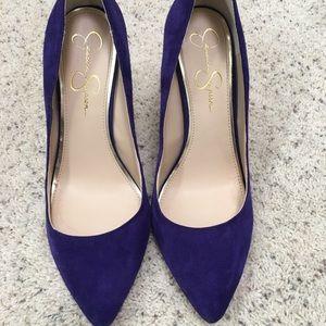 Purple suede Jessica Simpson pumps
